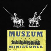 Museum Miniatures 15mm Medieval MD21 French Sergeant (x 4 mtd figs)